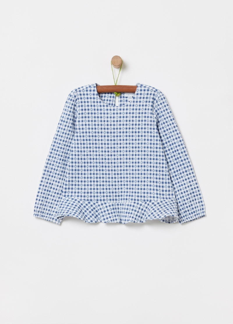 Shirt with Vichy pattern image number null