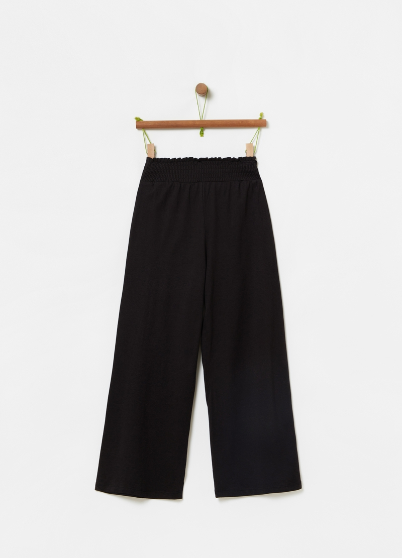 Trousers in viscose and cotton jersey image number null