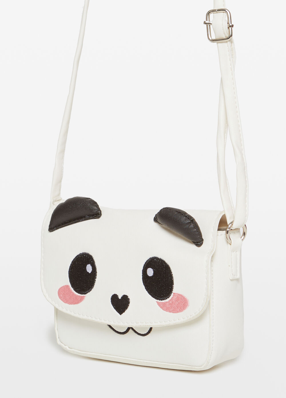 Shoulder bag with animal patches and embroidery