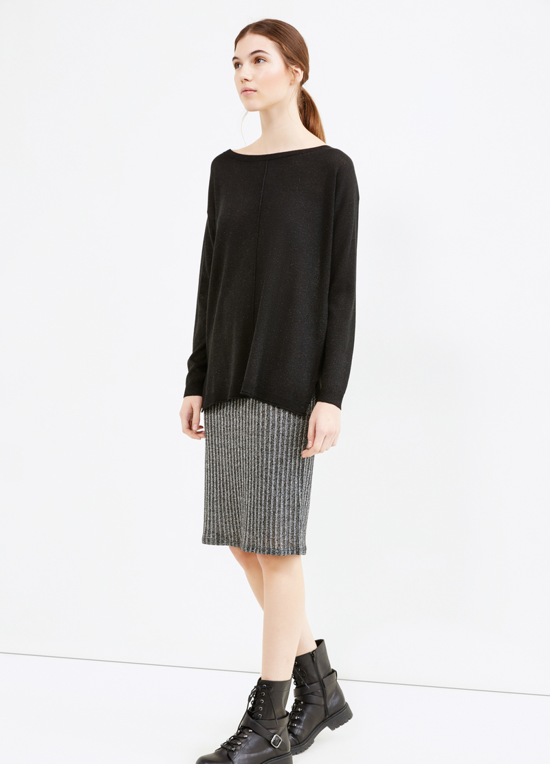 Long pullover with slits image number null
