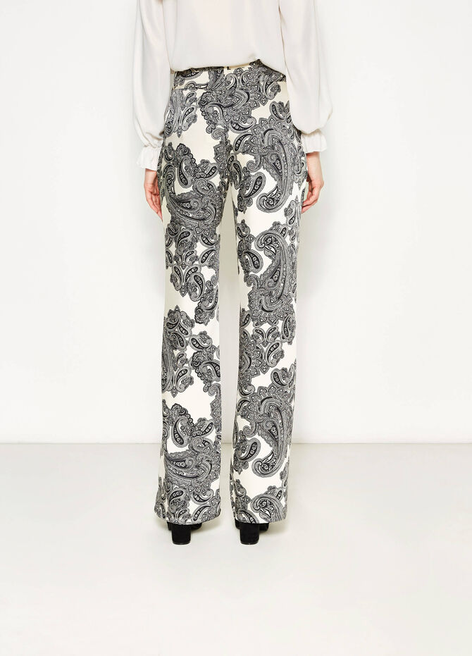 Palazzo trousers with paisley pattern