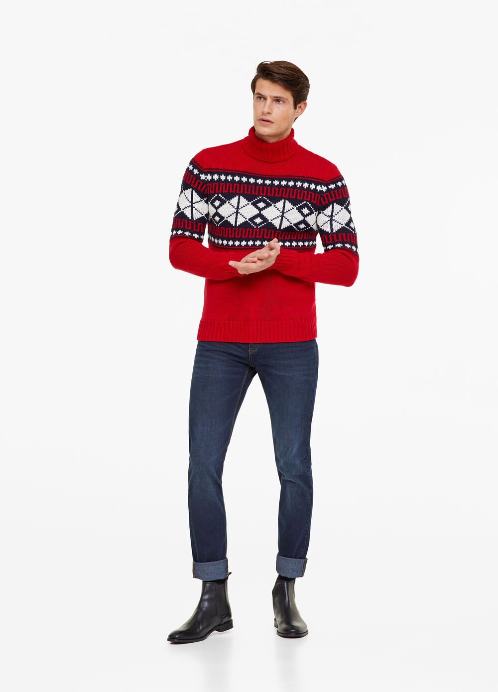 Christmas sweater with high neck