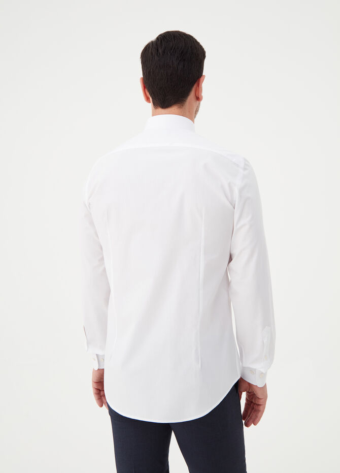 Compact-weave slim-fit cotton shirt