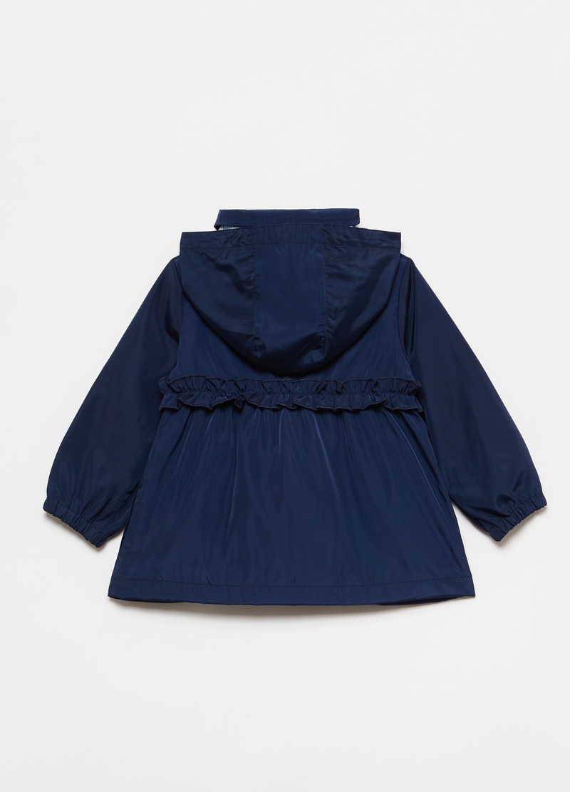 Hooded windbreaker with frills image number null