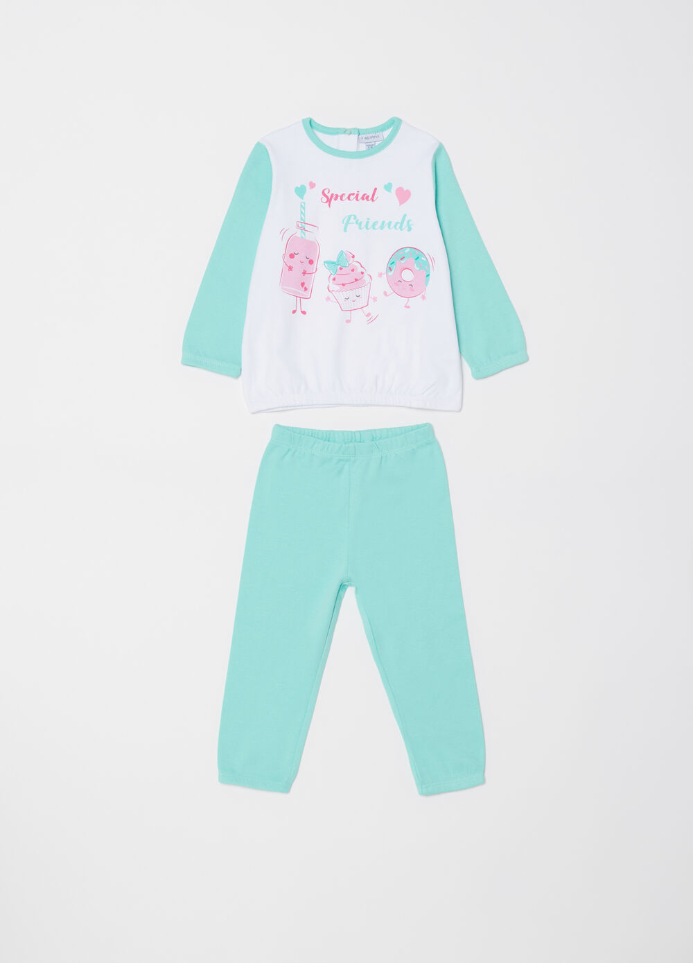 Cotton pyjamas with desserts print