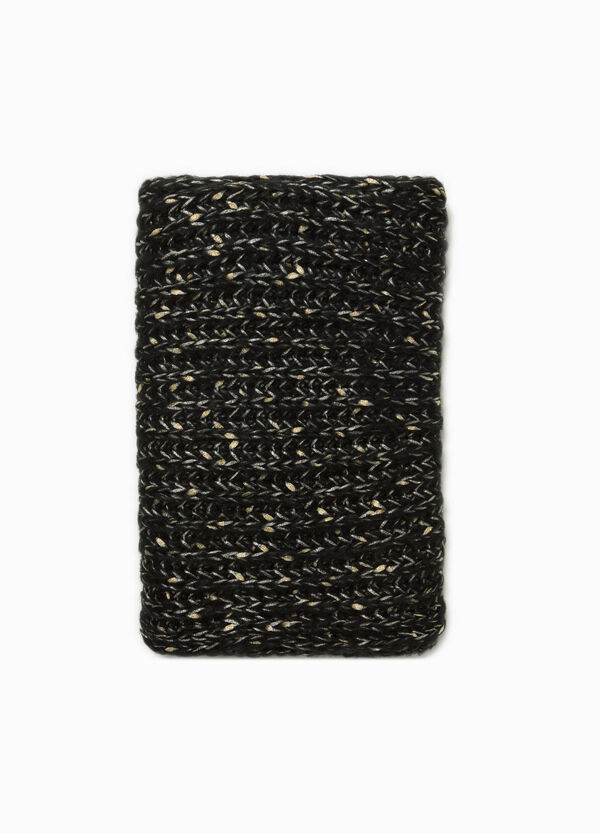 Glitter neck warmer with braided weave
