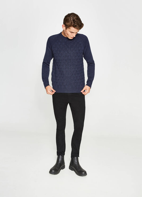 Cotton blend knitted pullover