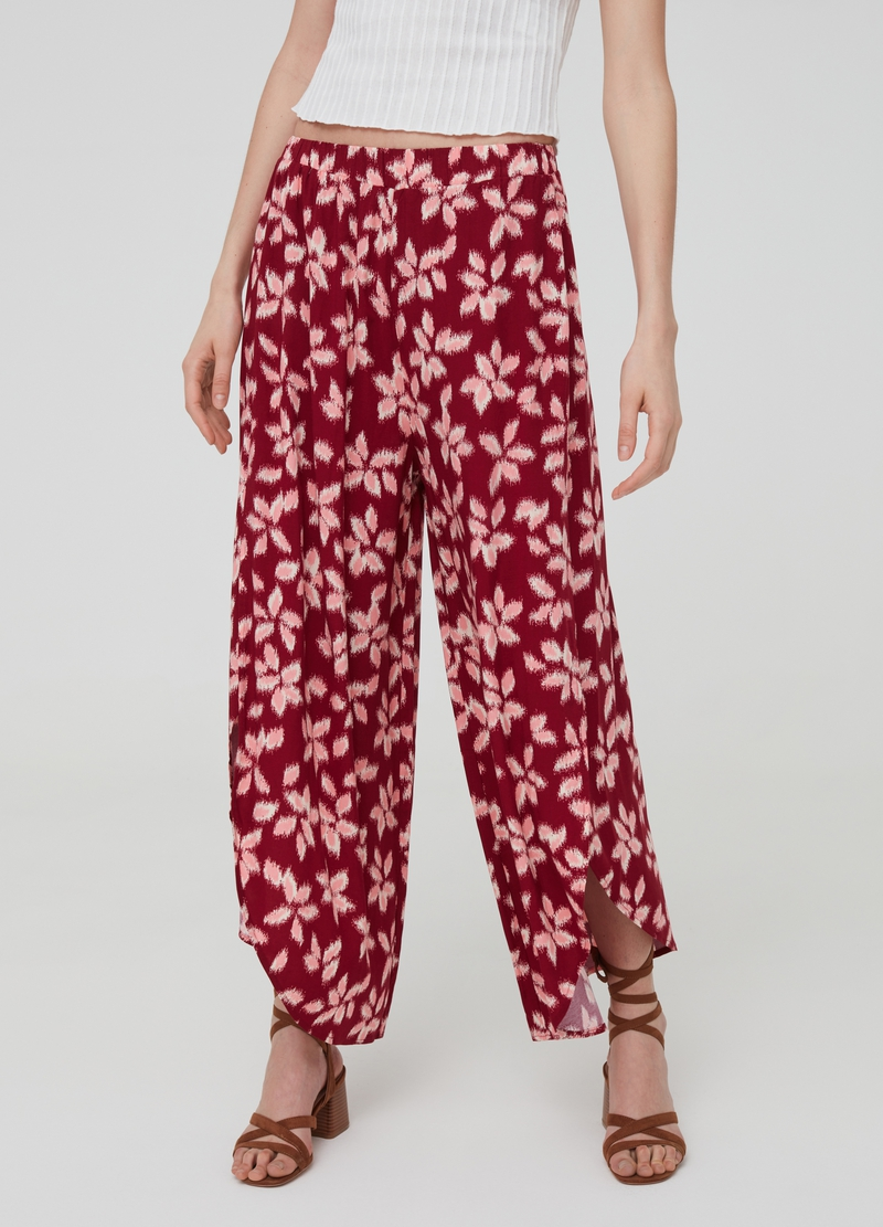 100% viscose trousers with splits image number null