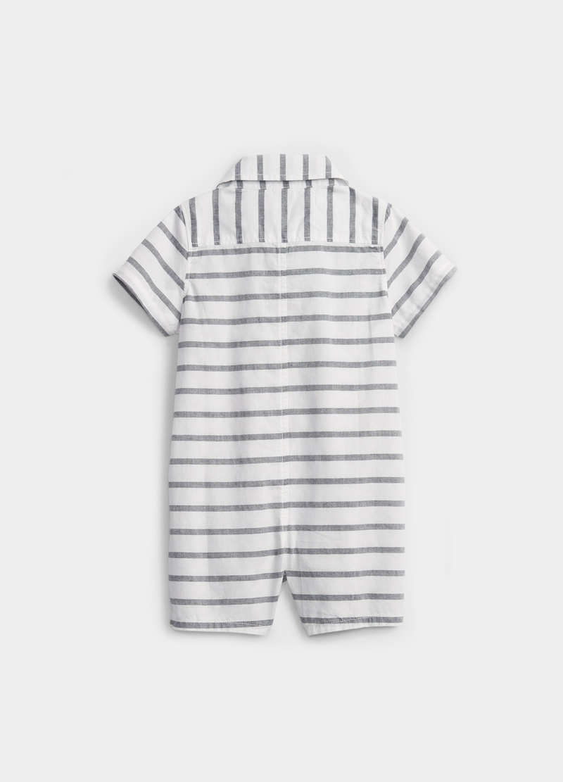 GAP striped T-shirt with polo shirt collar image number null