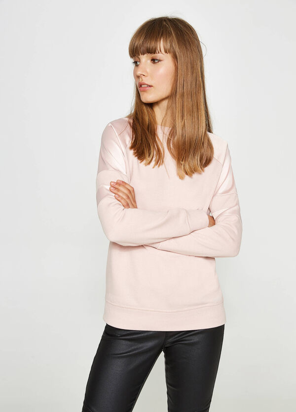 100% cotton sweatshirt with inserts | OVS