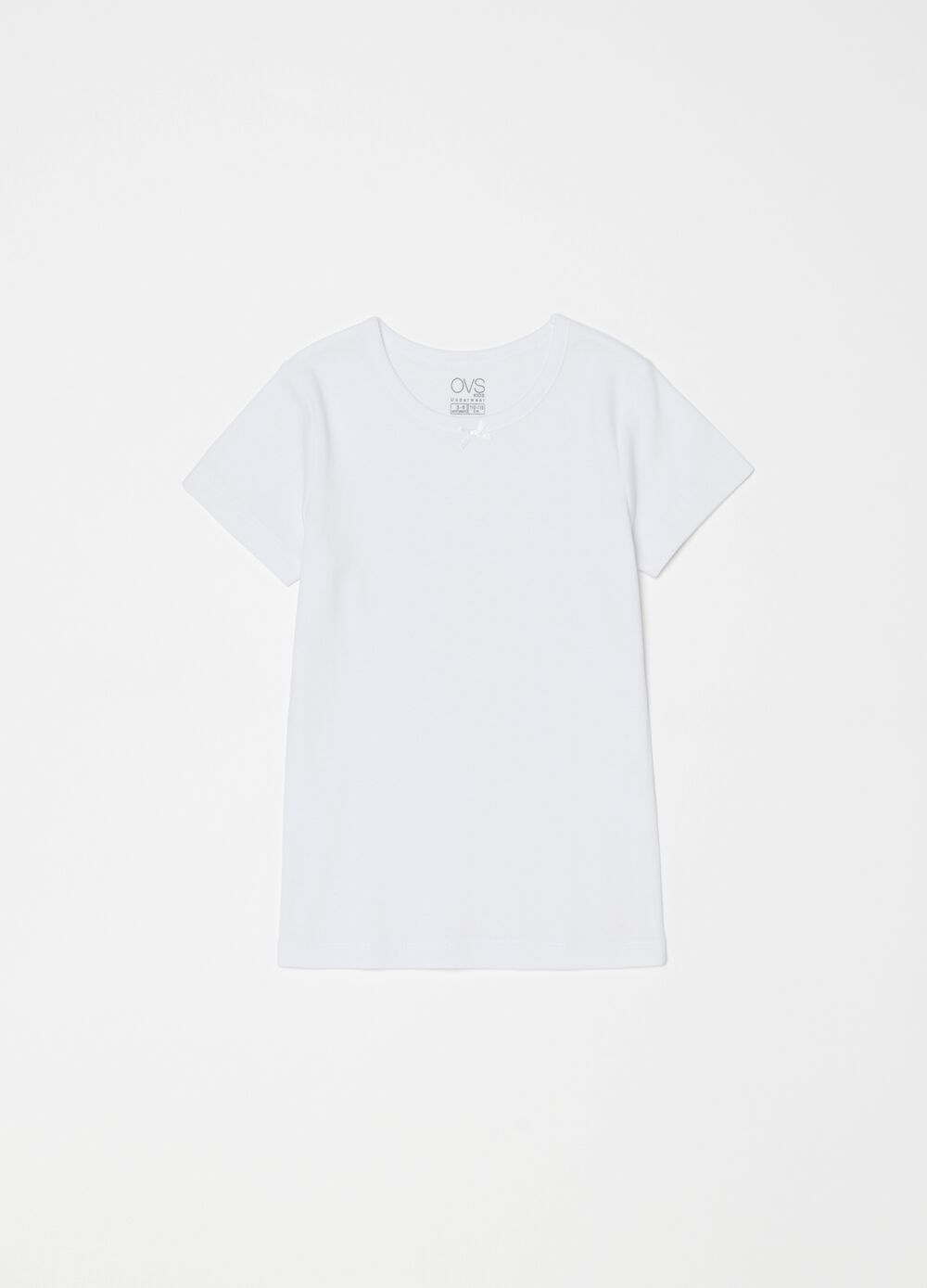 Stretch undershirt in warm organic cotton