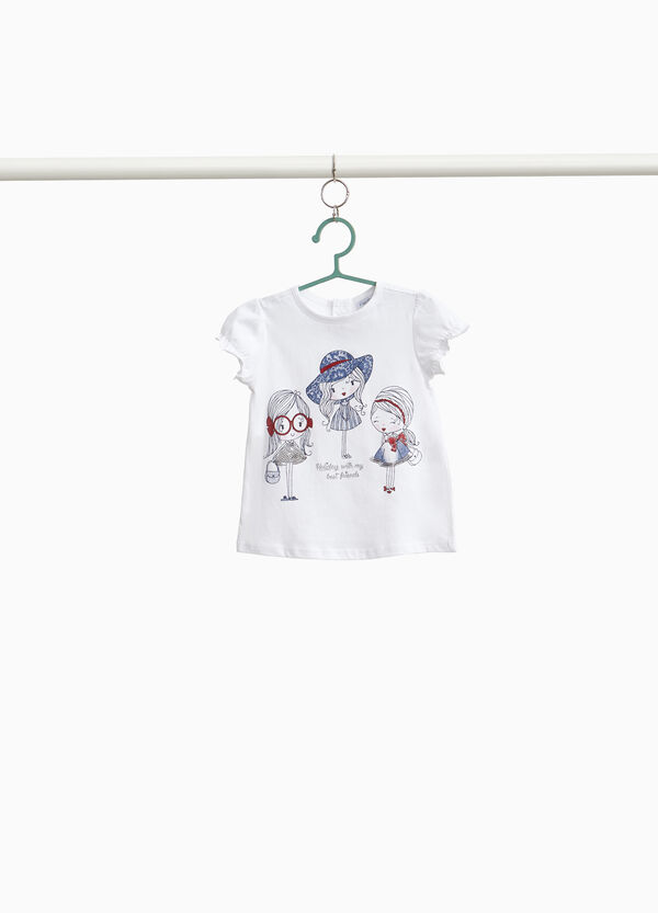 100% cotton T-shirt with girls print