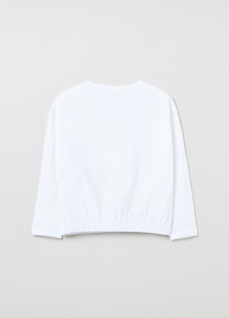 T-shirt in cotone con taschino image number null