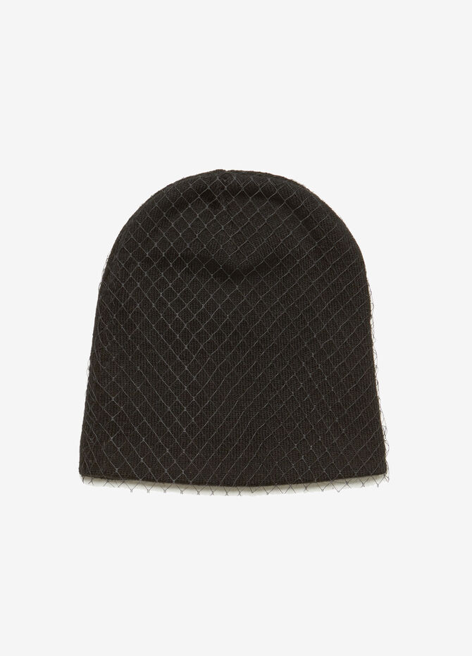 Knit hat with veil