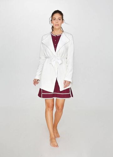 Solid colour robe with lapels