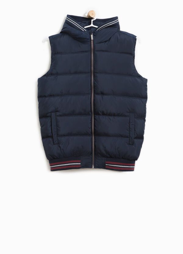 Padded gilet with hood and pockets | OVS