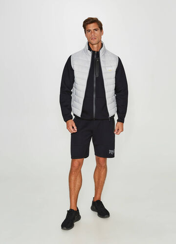 Padded gilet with Everlast print