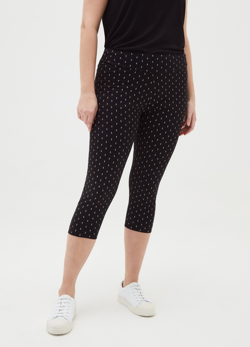 Leggings crop stampa all-over Curvy image number null