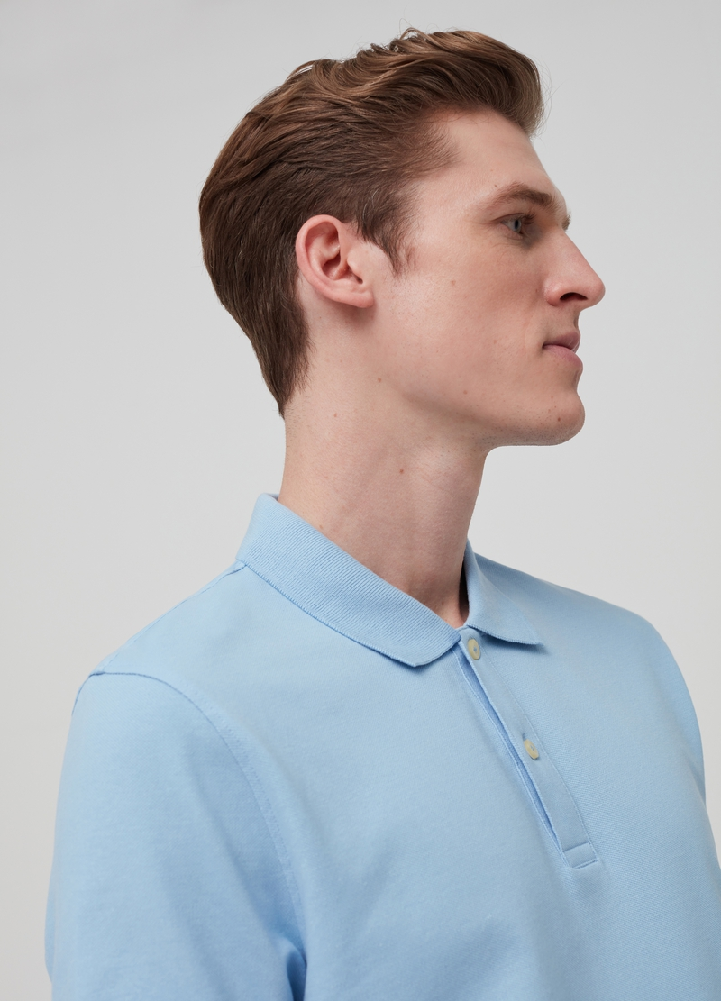 100% cotton polo shirt with cutaway collar. image number null