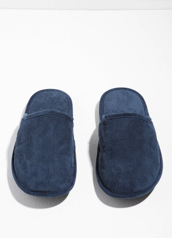 Slippers with upper and inner sole in knitted canvas. | OVS