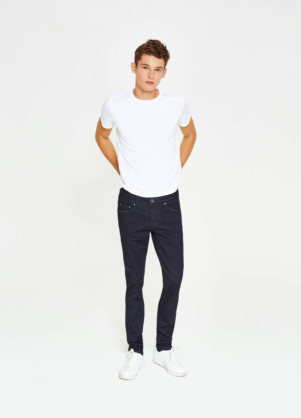 Jeans slim fit stretch tinta unita | OVS