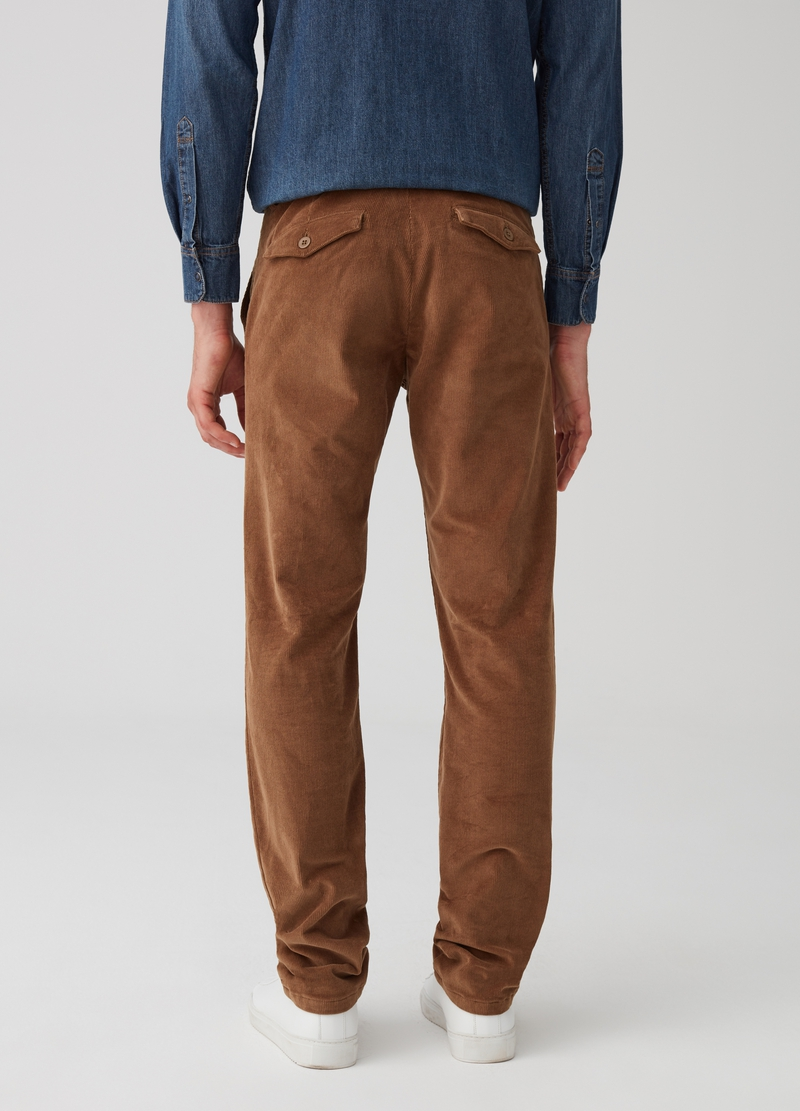 Slim fit, stretch cotton chino trousers image number null