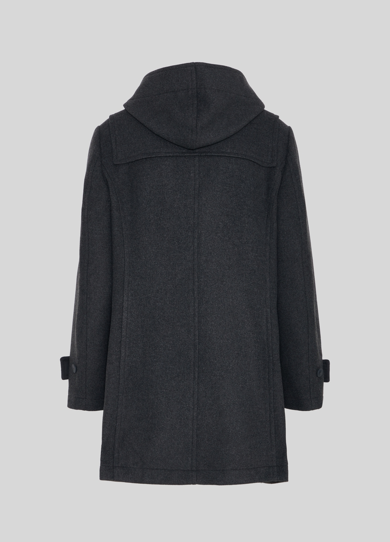 PIOMBO wool blend duffle coat with hood image number null