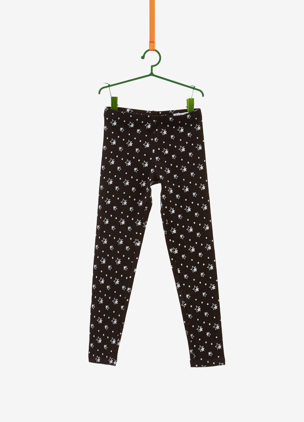 Leggings stretch stampa stelle all-over