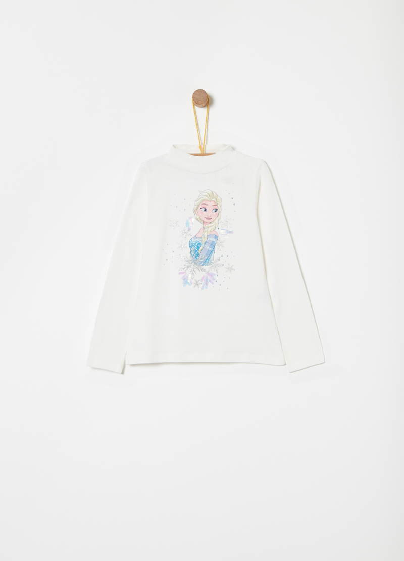 Turtleneck jumper with Disney Frozen applications image number null
