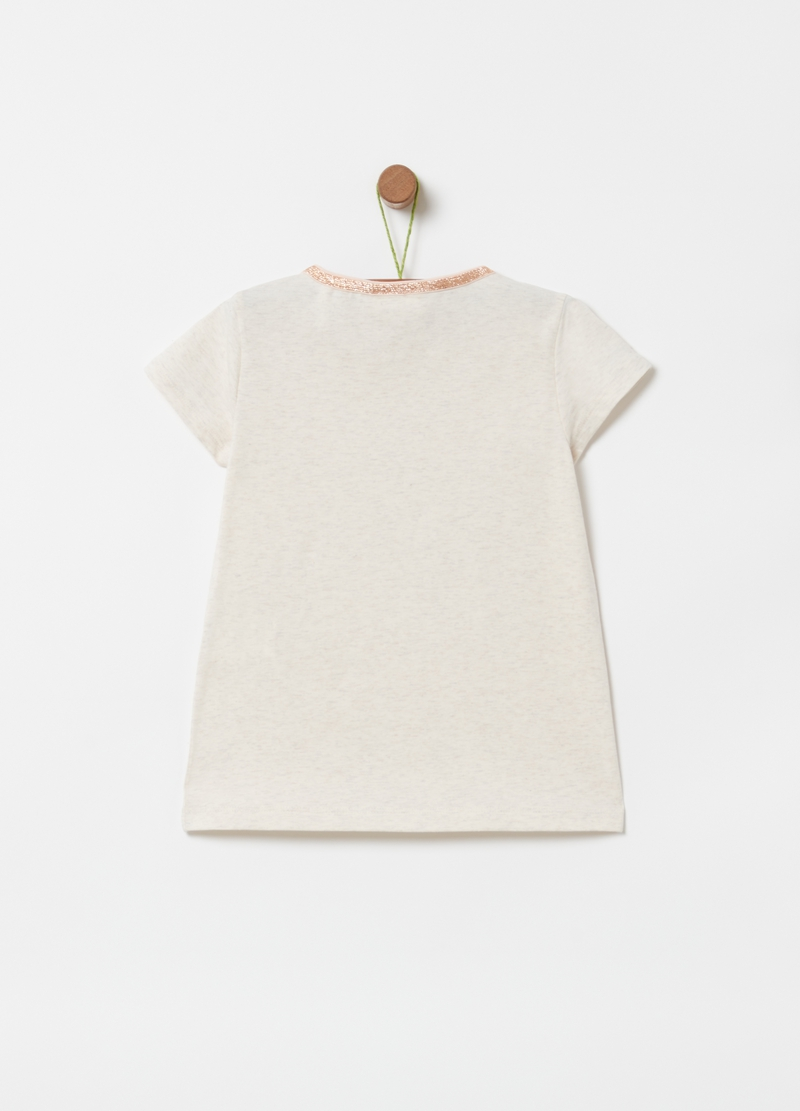 Organic cotton T-shirt with tassels image number null