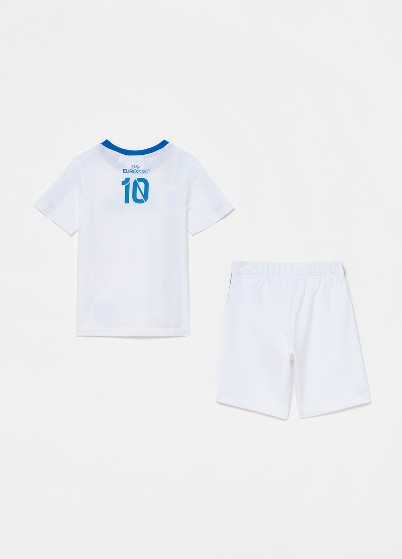 UEFA cup jogging set with T-shirt and Bermuda shorts image number null