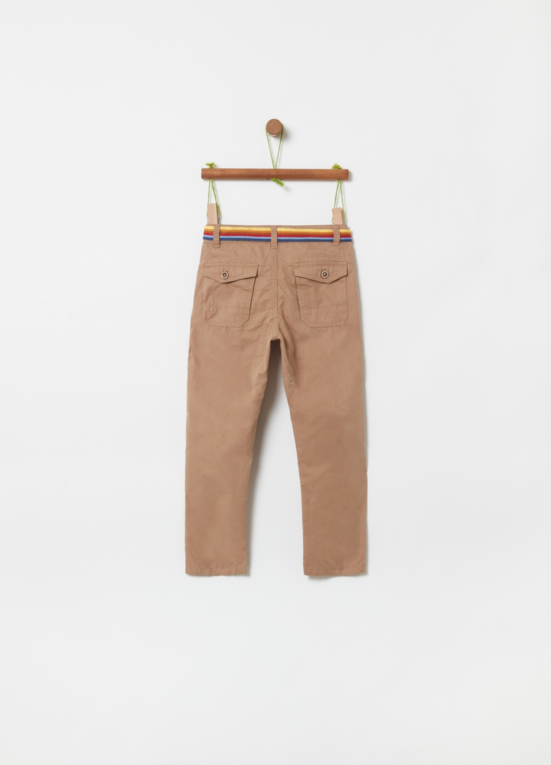 Trousers with pockets and belt image number null