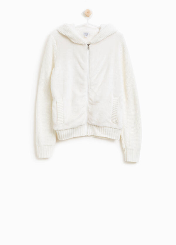 Knitted hoodie with zip | OVS