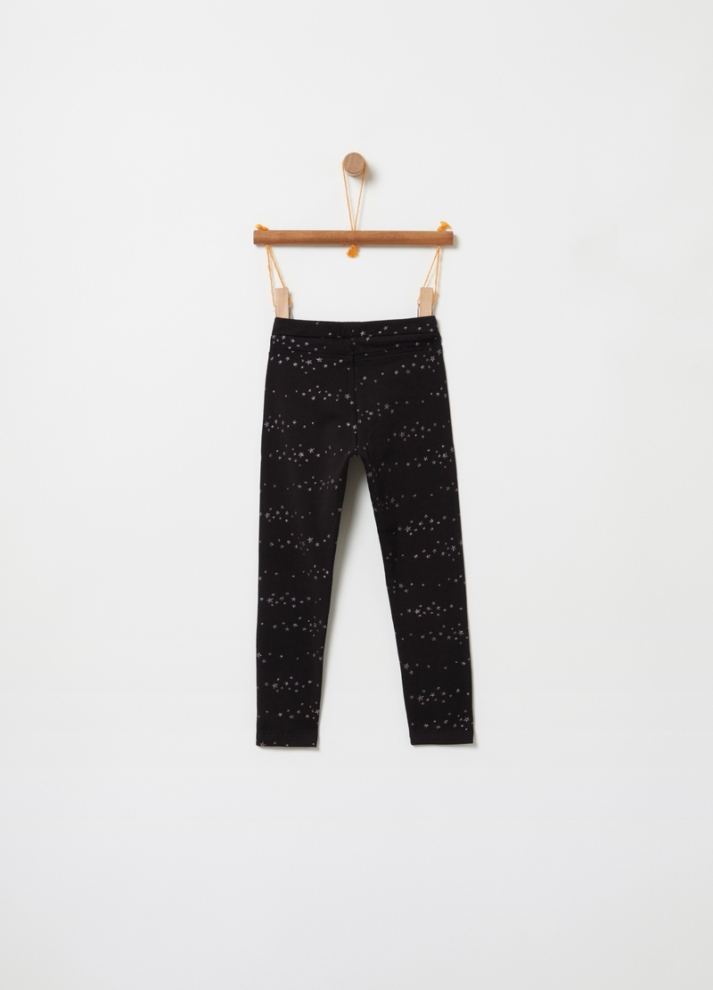 Treggings stretch stampa stelline image number null