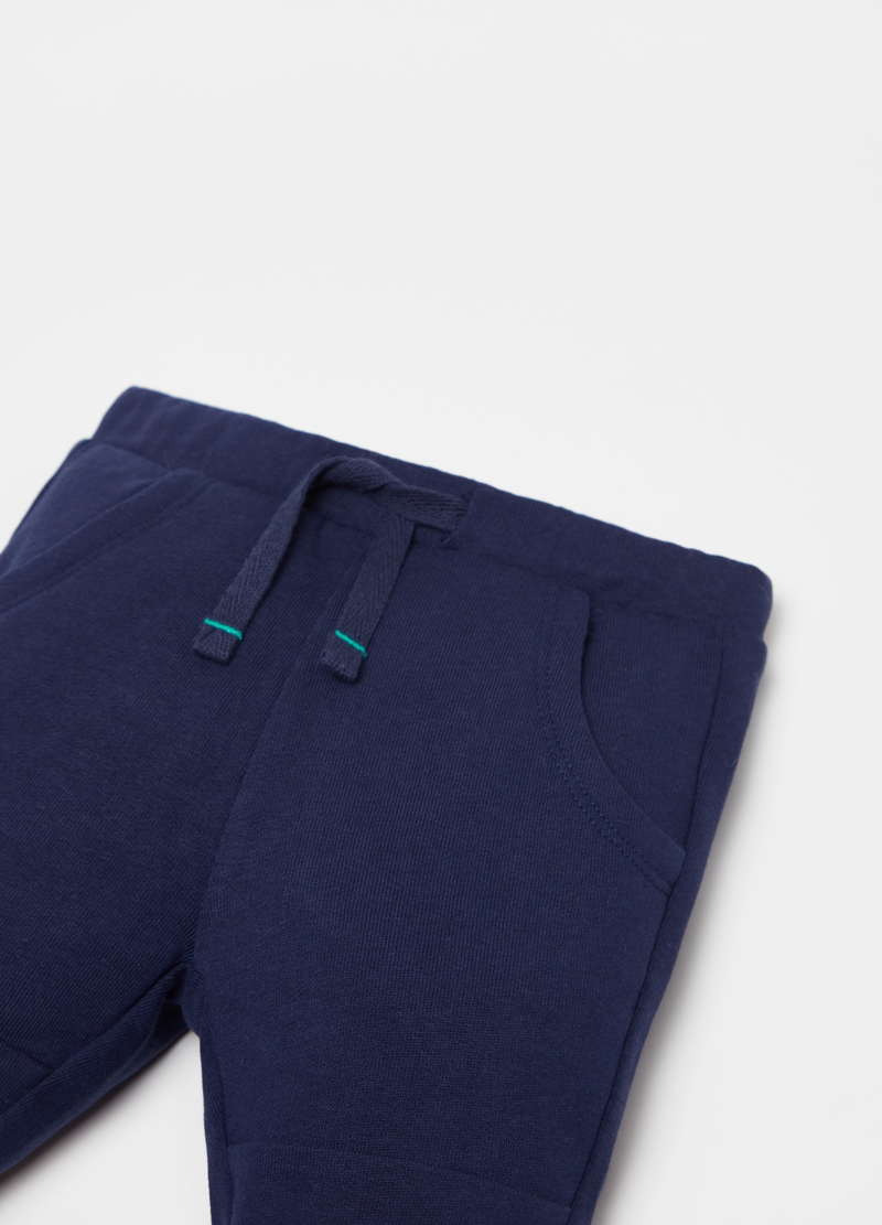 Pantaloni in French Terry con coulisse image number null