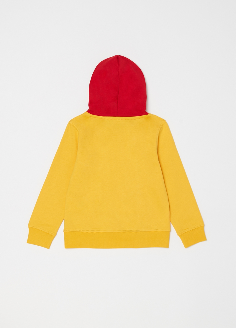 Cotton sweatshirt with hood and pouch pocket image number null