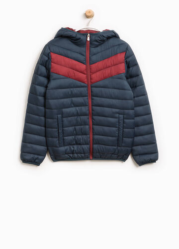 Jacket with hood and inserts