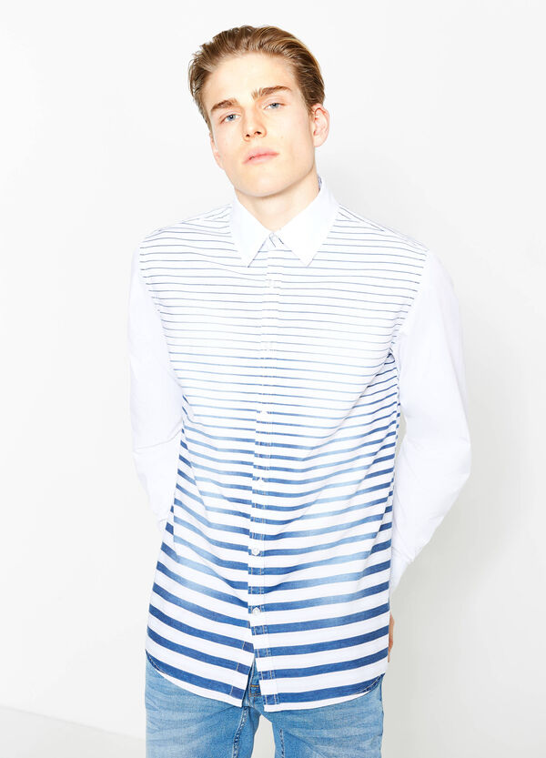 G&H striped cotton casual shirt | OVS