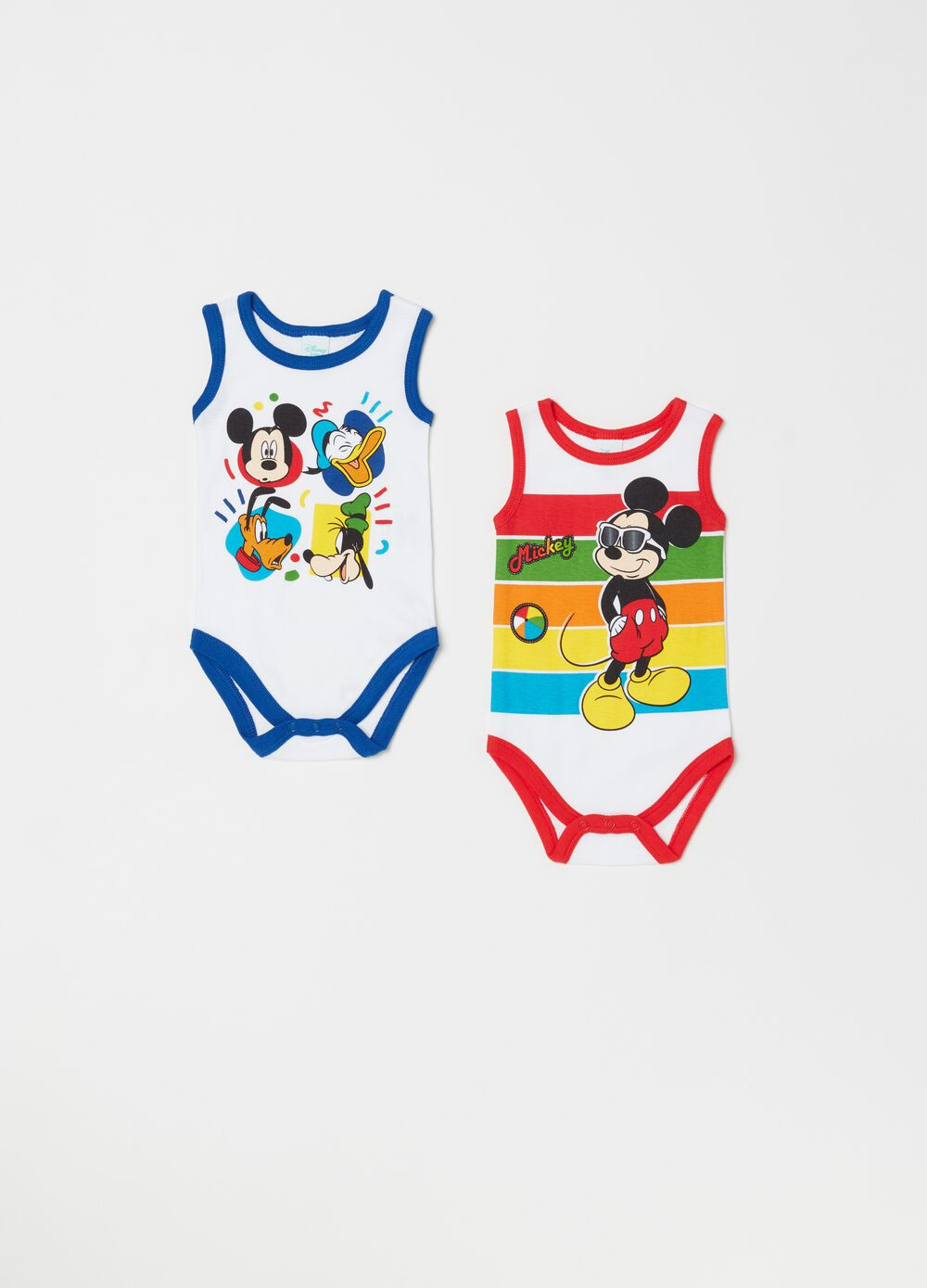 Two-pack bodysuits with Disney Baby pattern