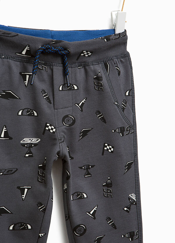 Cotton joggers with Cars pattern | OVS