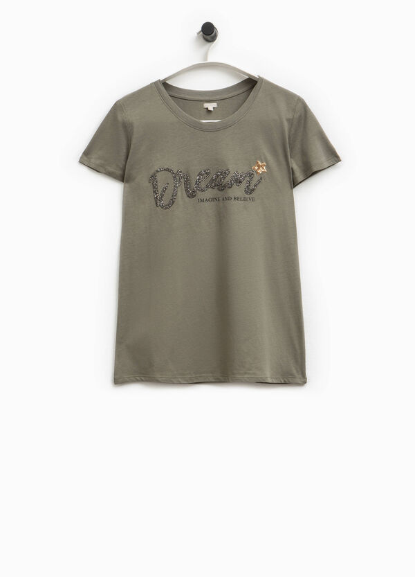 T-shirt stampa glitterata Smart Basic | OVS