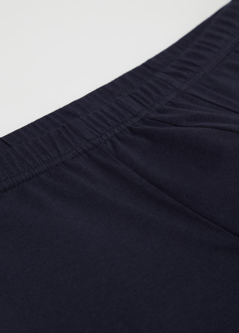 Solid colour 100% cotton boxer shorts image number null