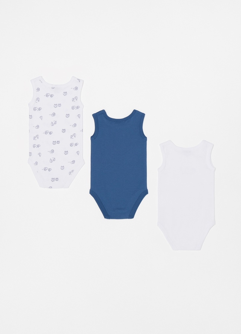 Three-pack cotton bodysuits image number null