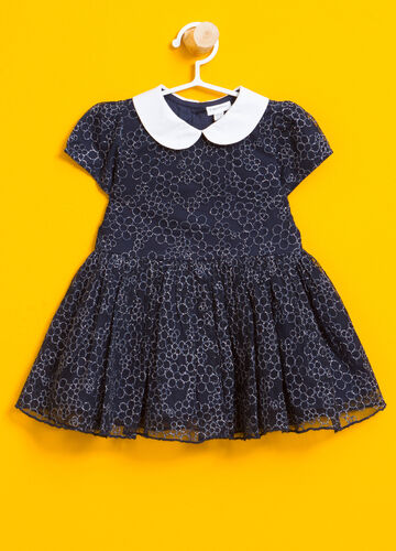 Floral glitter dress in cotton