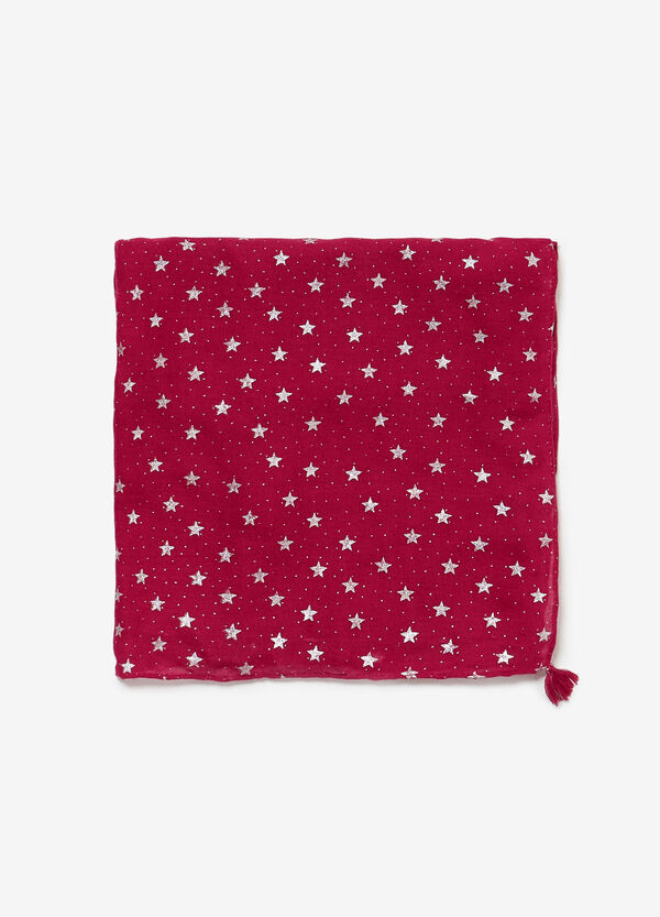 Pashmina with lurex stars and micro polka dots