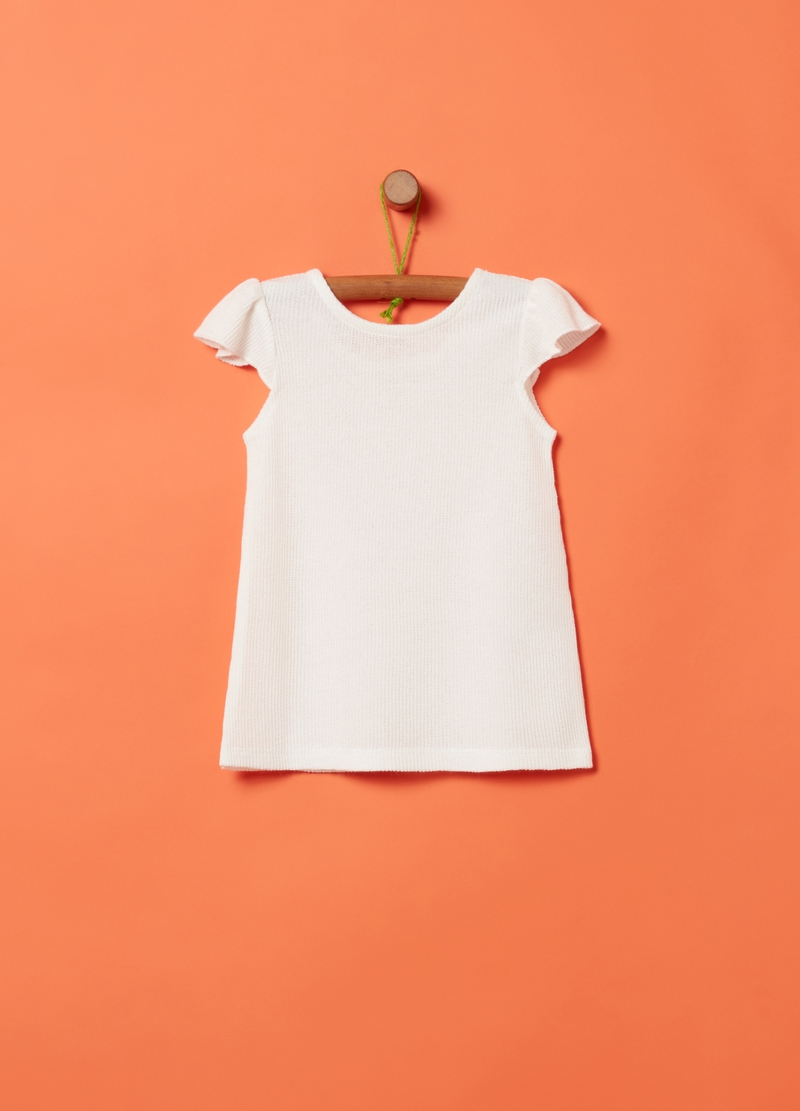 Solid colour tank top with flounce image number null