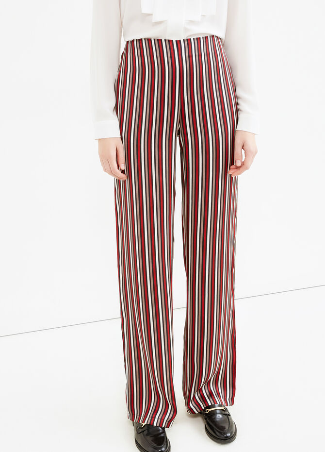 Palazzo trousers with stripes