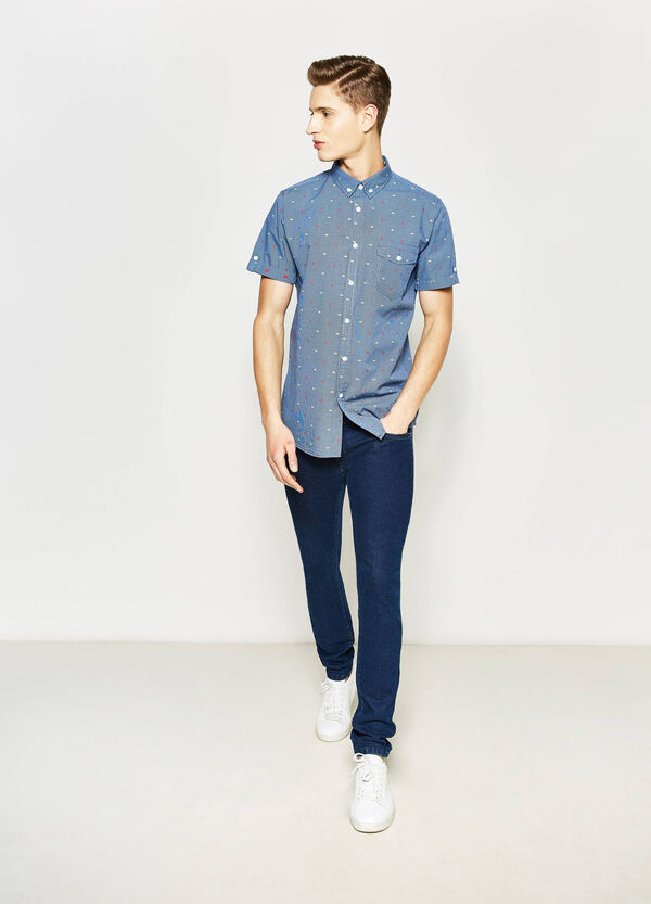 G&H casual micro check shirt | OVS