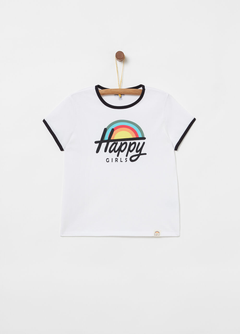 Lightweight jersey T-shirt with contrasting trims