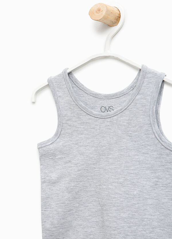 Solid colour organic cotton under vest | OVS